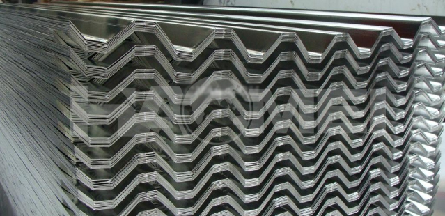 3003,3004,3105 aluminium corrugated sheet