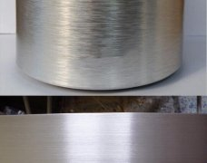 The forming method of brushed aluminum sheet/plate